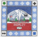 S102 Bromley Mountain ‐ Square 8.75 x 8.75 13 Mesh Doolittle Stitchery