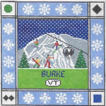 S128 Burke Mountain ‐ Square 8.75 x 8.75 13 Mesh Doolittle Stitchery