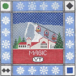 S108 Magic Mountain ‐ Square 8.75 x 8.75 13 Mesh Doolittle Stitchery