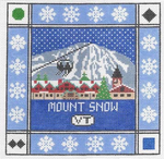 S105 Mount Snow ‐ Square 8.75 x 8.75 13 Mesh Doolittle Stitchery