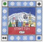 S101 Stratton Mountain ‐ Square 8.75 x 8.75 13 Mesh Doolittle Stitchery