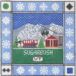 S104 Sugarbush ‐ Square 8.75 x 8.75 13 Mesh Doolittle Stitchery