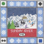 S111 Sunday River ‐ Square 8.75 x 8.75 13 Mesh Doolittle Stitchery