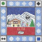 S118 Alta ‐ Square  8.75 x 8.75 13 Mesh Doolittle Stitchery