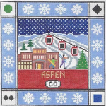 S119 Aspen ‐ Square 8.75 x 8.75 13 Mesh Doolittle Stitchery