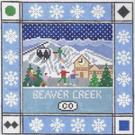 S126 Beaver Creek ‐ Square 8.75 x 8.75 13 Mesh Doolittle Stitchery