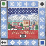 S114 Breckenridge ‐ Square 8.75 x 8.75 13 Mesh Doolittle Stitchery
