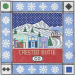S120 Crested Butte ‐ Square 8.75 x 8.75 13 Mesh Doolittle Stitchery