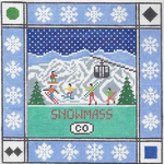 S123 Snowmass ‐ Square 8.75 x 8.75 13 Mesh Doolittle Stitchery