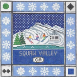 S122 Squaw Valley ‐ Square 8.75 x 8.75 13 Mesh Doolittle Stitchery