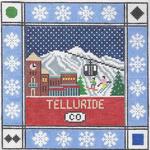 S113 Telluride ‐ Square 8.75 x 8.75 13 Mesh Doolittle Stitchery