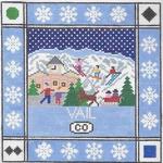 S115 Vail ‐ Square 8.75 x 8.75 13 Mesh Doolittle Stitchery