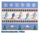 P101 Skier/Snowboarder ‐ Pillow 7 x 8.75  13 Mesh Doolittle Stitchery