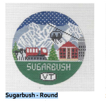 R104 Sugarbush ‐ Round 4.25 x 4.25 18 Mesh Doolittle Stitchery