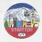 R101 Stratton Mountain ‐ Round 4.25 x 4.25 18 Mesh Doolittle Stitchery