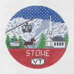 R106 Stowe ‐ Round 4.25 x 4.25 18 Mesh Doolittle Stitchery