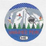 R110 Shawnee Peak ‐ Round 4.25 x 4.25 18 Mesh Doolittle Stitchery
