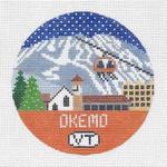 R103 Okemo ‐ Round 4.25 x 4.25 18 Mesh Doolittle Stitchery