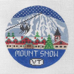 R105 Mount Snow ‐ Round 4.25 x 4.25 18 Mesh Doolittle Stitchery
