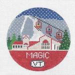 R108 Magic Mountain ‐ Round 4.25 x 4.25 18 Mesh Doolittle Stitchery