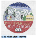 R127 Mad River Glen ‐ Round 4.25 x 4.25 18 Mesh Doolittle Stitchery