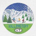 R107 Killington ‐ Round 4.25 x 4.25 18 Mesh Doolittle Stitchery
