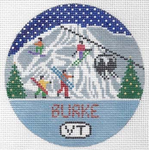R128 Burke Mountain ‐ Round 4.25 x 4.25 18 Mesh Doolittle Stitchery