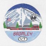 R102 Bromley Mountain ‐ Round 4.25 x 4.25 18 Mesh Doolittle Stitchery