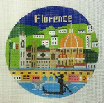 R131 Florence ‐ Round 4.25 x 4.25 18 Mesh Doolittle Stitchery