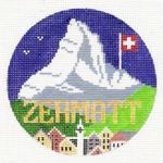R125 Zermatt ‐ Round  4.25 x 4.25 18 Mesh Doolittle Stitchery