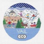 R115 Vail ‐ Round 4.25 x 4.25 18 Mesh Doolittle Stitchery