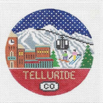 R113 Telluride ‐ Round 4.25 x 4.25 18 Mesh Doolittle Stitchery