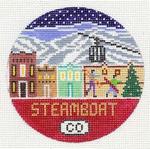 R124 Steamboat ‐ Round 4.25 x 4.25 18 Mesh Doolittle Stitchery