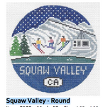 R122 Squaw Valley ‐ Round 4.25 x 4.25 18 Mesh Doolittle Stitchery