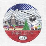 R121 Park City ‐ Round 4.25 x 4.25 18 Mesh Doolittle Stitchery