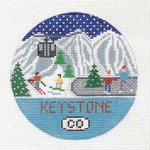 R112 Keystone ‐ Round 4.25 x 4.25 18 Mesh Doolittle Stitchery