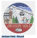 R129 Jackson Hole ‐ Round 4.25 x 4.25 18 Mesh Doolittle Stitchery