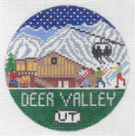 R130 Deer Valley ‐ Round 4.25 x 4.25 18 Mesh Doolittle Stitchery