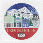 R120 Crested Butte ‐ Round 4.25 x 4.25 18 Mesh Doolittle Stitchery