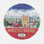 R114 Breckenridge ‐ Round 4.25 x 4.25 18 Mesh Doolittle Stitchery