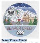 R126 Beaver Creek ‐ Round 4.25 x 4.25 18 Mesh Doolittle Stitchery