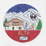 R118 Alta ‐ Round 4.25 x 4.25 18 Mesh Doolittle Stitchery