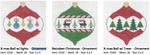 O104 X‐mas Ball w/ Trees ‐ Ornament 4 x 4 18 Mesh Doolittle Stitchery