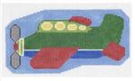O108 Airplane ‐ Ornament 3 x 6  18 Mesh Doolittle Stitchery