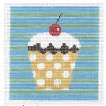 S150 Cupcake ‐ Square 5 x 5 13 Mesh Doolittle Stitchery
