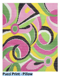 P106 Pucci Print ‐ Pillow 15 x 14  13 Mesh Doolittle Stitchery