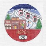 R119 Aspen ‐ Round 4.25 x 4.25 18 Mesh Doolittle Stitchery