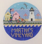 Martha's Vineyard ‐ Round 4.25 x 4.25 18 Mesh Doolittle Stitchery
