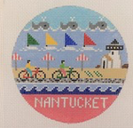 Nantucket ‐ Round 4.25 x 4.25 18 Mesh Doolittle Stitchery