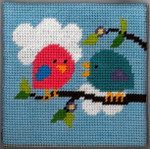 6-001 Birds 9x9 Sandra Gilmore 6 Mesh Little Moon Qulckpoint Kit